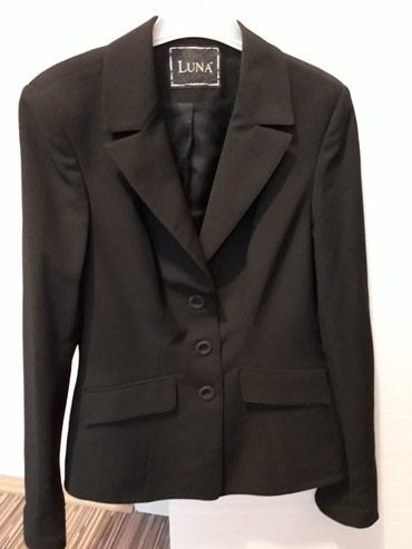 Zenski sako,crna boja,velicina 38 LUNA kao nov,par puta obucen...samo - Pozarevac