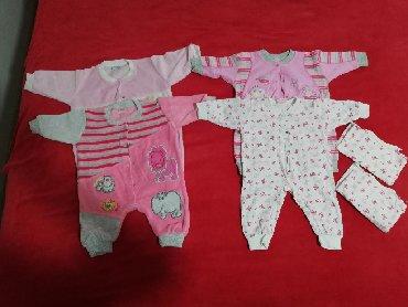 Dečija odeća i obuća - Razanj: Paket 4 zeke sa otvorenim nogicama, uz jedan idu i dve benkice u