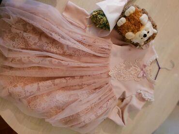 Платье розовое на 6-8 лет. Утепленное, качественное, 100% cotton
