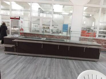 Стеклянную вазу - Кыргызстан: Линия раздачи на 4.5метра. Столешница из нерж.стали-турецкая, верхние
