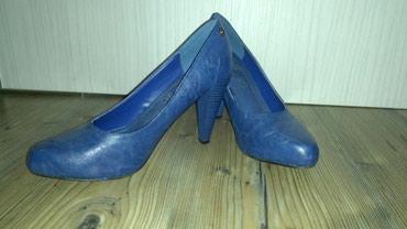 Zenske cipele u plavoj boji,jednom obucene,br 39,malo veci kalup,kao - Belgrade