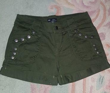 Pantalone boja maslinasto zelena kvalitetne super meka - Srbija: Nov only jeans sorts - maslinasto zelena boja. xs-s