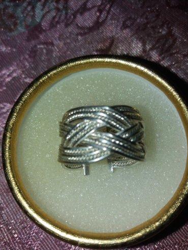 Masivan srebrni prsten  sklro nov - Loznica