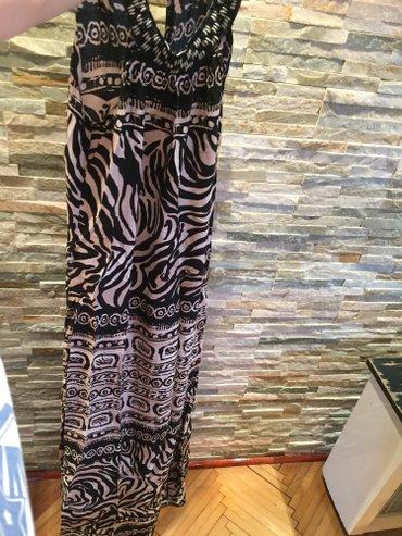 Letnja haljina, sa animal printom, duga i sa malim rascepom na jednoj - Vranje