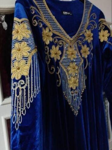 Платья - Бишкек: Роскошное бархатное вечернее платье высшего качества расшито золотой