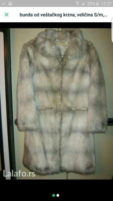 Krzneni kaputi - Pozarevac: Bunda vestacko krzno kvalitetna  kupljena u parizu  m