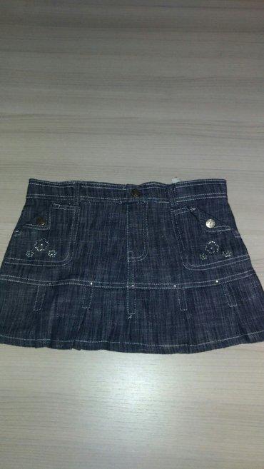 Kozne-pantaloneuskeskinny-model-marka-denim-only - Srbija: Teksas suknjica, vel. 12, ali manji model, ocuvana