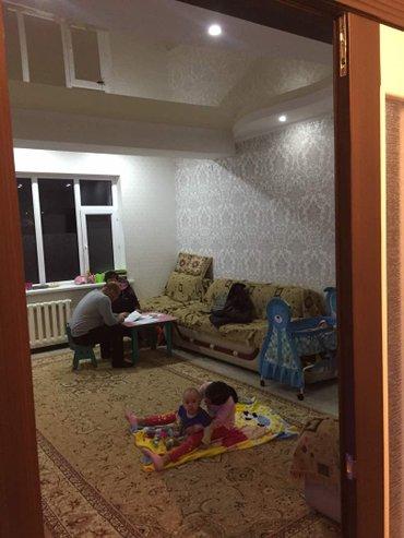 продается 2 комн квартира в 9 мкр, 77 м2, 1/10, с евроремонтом. в Бишкек