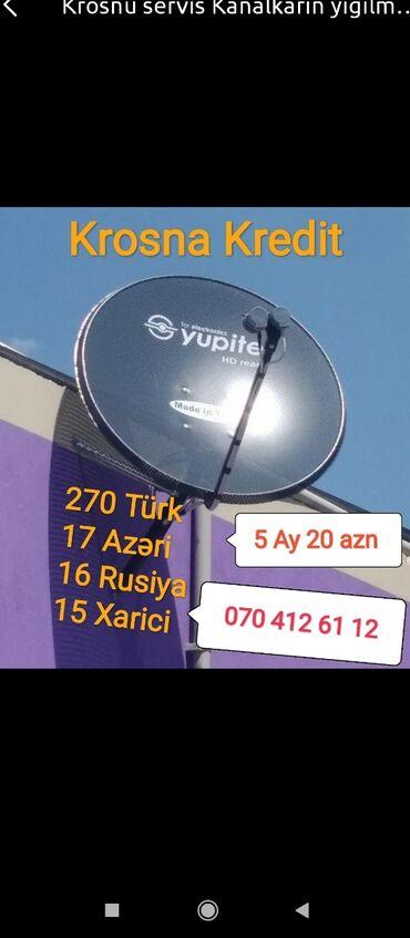 - Azərbaycan: Krosna krosnu kros peyk antenaların kreditlə və nəğd quraşdırılması