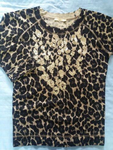 Все вещи. В отл сост. Красивая леопардовая кофточка с паетками