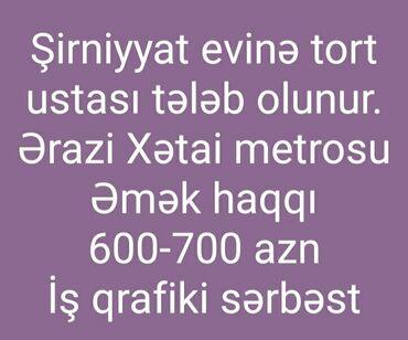 rulevoy ustasi - Azərbaycan: Aşpaz Qənnadıçı. Təcrübəli. Xətai r-nu