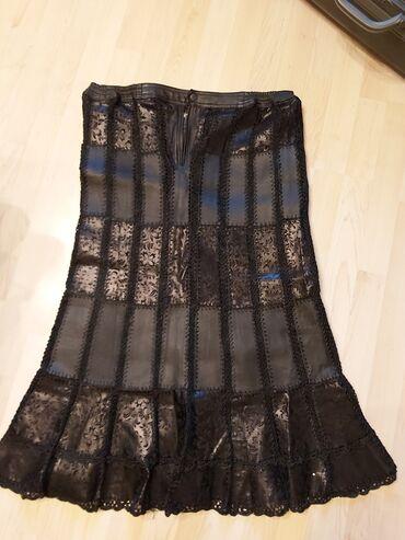 Pencil suknja afroditemodecollection - Srbija: Kožna suknja i prsluk,veci broj.kao novopojas suknje od 47 do 53cm