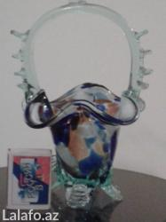 Bakı şəhərində Красивая конфетница, стекло, внешнее состояние  хорошее. Средина