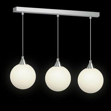 инверторы для солнечных батарей 80 500 в Кыргызстан: Люстра в минималистическом стиле, три белых шара диаметром 20см