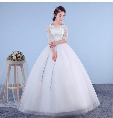 Свадебное Платье НОВОЕ  с рукавам на в Бишкек