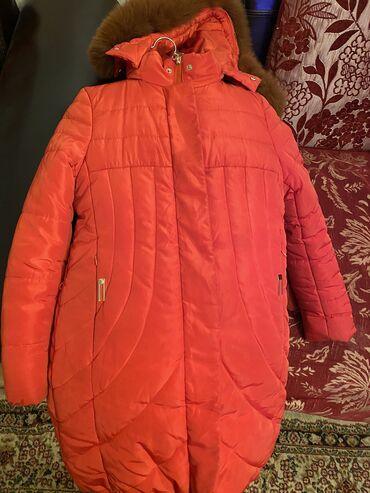 Куртка б/у . Зима . Кирпичного цвета . На 9 лет