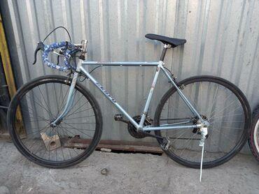 Спорт и хобби - Кок-Ой: Велосипед в хорошем состоянии всё работает колёса 28р на трассе пушка