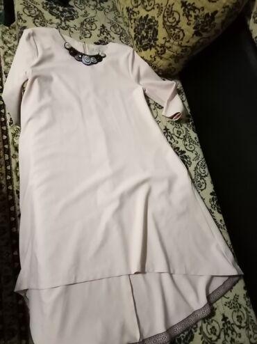 Платье (Турция) нежно-персиковый цвет, в отличном состоянии р-р 46-48