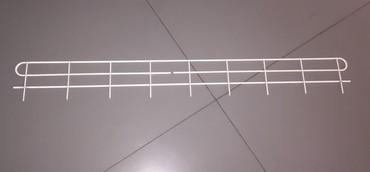 Ограждение переднее для стеллажа, из металла, окрашено в белый