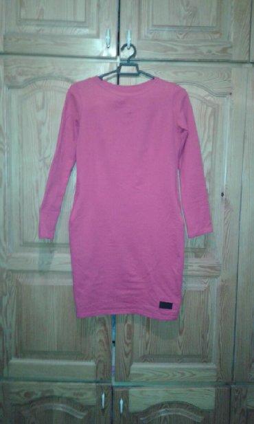 Roze pamuk - Srbija: Haljina roze,boja kao na drugoj slici,pamuk elastin M velicina