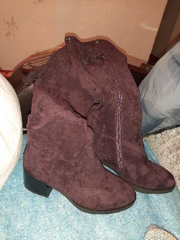 Продаю новые сапоги натуральная замша.осень-зима-весна качество каблук