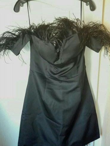 NOVA-Paccio haljina,od svile sa pravim perijem,i horsetom....velicina - Valjevo