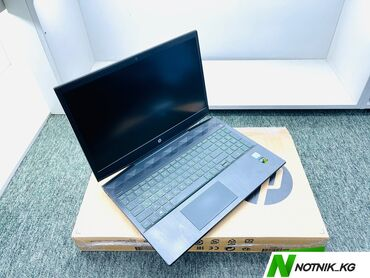 дискретная видеокарта для ноутбука купить в Кыргызстан: Ноутбук игровой мощный-HP-модель-Pavilion 15-cx0054ur-процессор-core