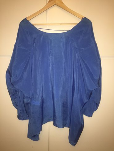 Zara woman μεταξωτή , φαρδιά , μπλε ρουά μπλούζα . Νο small . Αφόρετη  σε Υπόλοιπο Αττικής - εικόνες 2