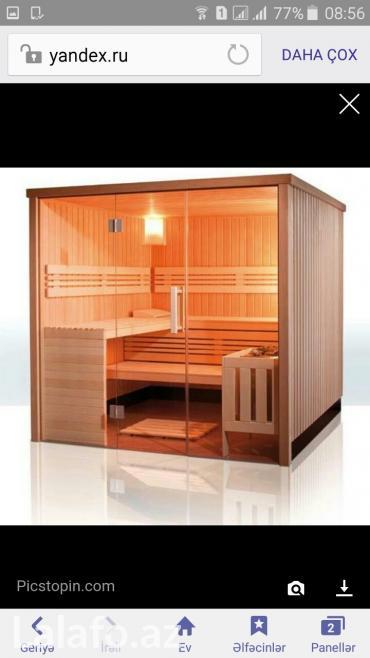 Bakı şəhərində Fin sauna və rus hamamı tikintisində əsasən xaricdən gətirilən lipa,
