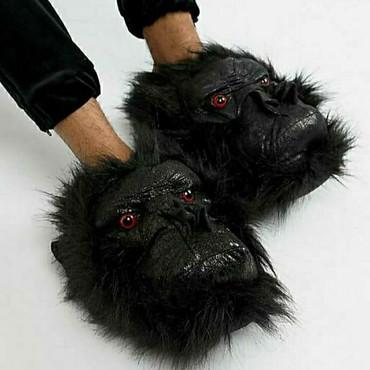 muzhskaja odezhda 40 h godov в Кыргызстан: Слиперы из искусственной кожи Loungeable с дизайном гориллы. держите