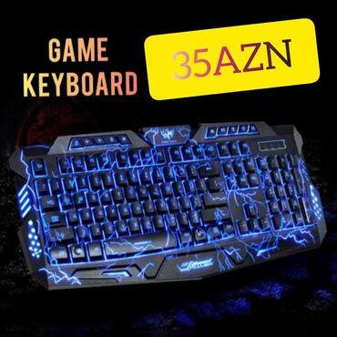 midi keyboard - Azərbaycan: Game Keyboard. bluetoothlu, işıqlı game klaviaturası yenidir