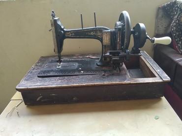 antik maşın - Azərbaycan: Tikis masini 1890 ci ilden qalma antikadir nah mashinan firmasinin dey