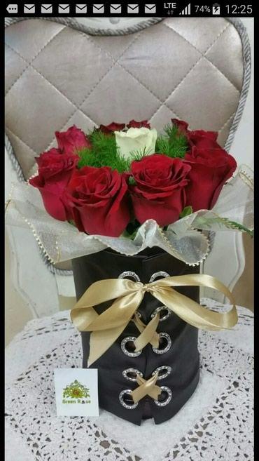 Розы в коробках - корсетах! в Бишкек