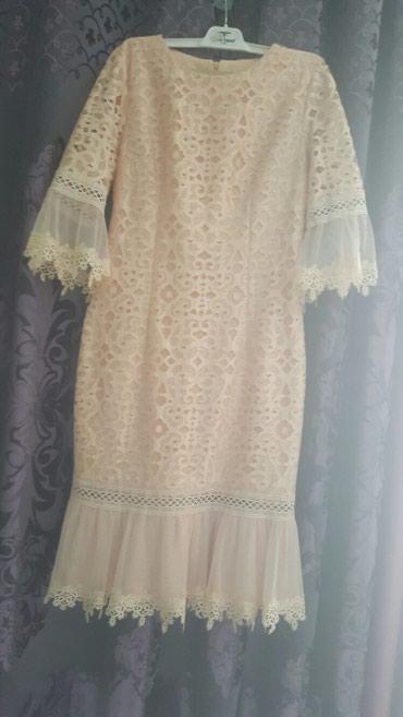 персиковое платье на свадьбу в Кыргызстан: Турецкое платье 44-46размер.цвет персиковый. одевались всего 3 раза на
