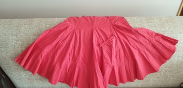 3 midi suknje za 1000rsd!!! Koralna Tribune lanena, crna Sisley i bez - Stara Pazova