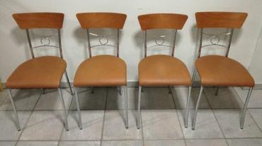 Πωλείται σετ 4 καρέκλες μεταλλικές με σε Chaidari
