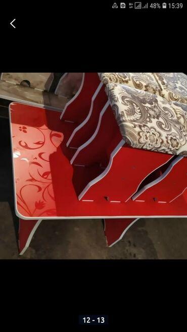 Новые кухонные столы с 4 табуретками. 3300 сом доставка по городу