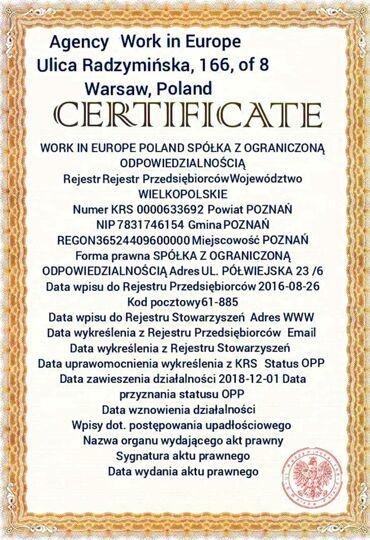 Xaricdə iş Azərbaycanda: Агентство по трудоустройству Work in Europe предлагает официальное тру