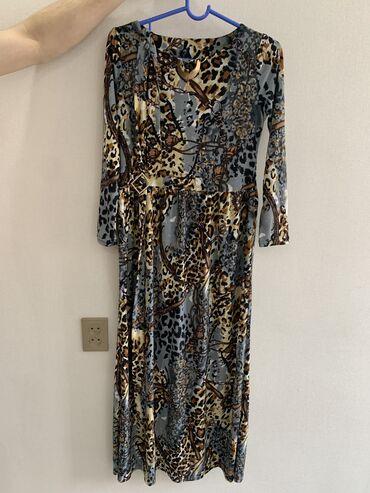 НОВОЕ платье!!! С ремнём, самый модный принт 2021г Ткань приятная к те
