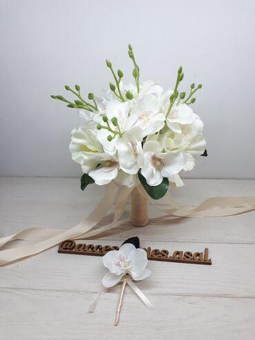 свадебный букет в Кыргызстан: Свадебный букет невесты  Искусственные цветы  Пишите на вотсап, скину