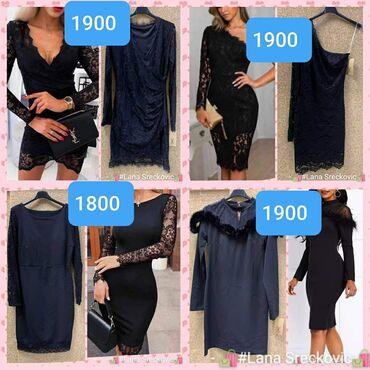 Cipkaste crne haljinice S m l xl