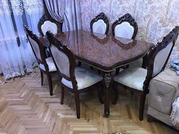 anbar - Azərbaycan: Masa ve oturacaq desti klassik stol stullar стол с стулями.BELARUSIYA