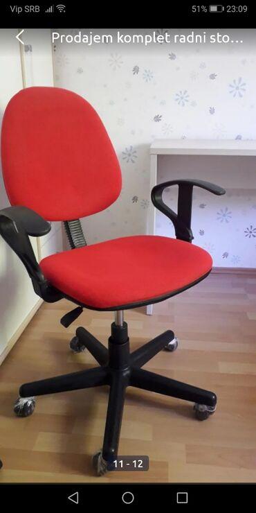 Stolica na točkiće, crvene boje! Očuvana!