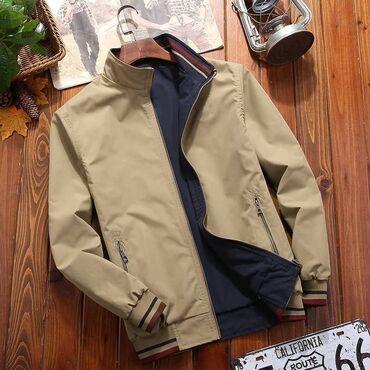кожаная куртка мужская купить в Кыргызстан: Лёгкая качественная двухсторонняя куртка в наличииРазмер 44-48М-хлЦена