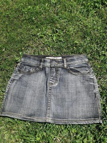 Suknjica, sivi teksas, mini. :)