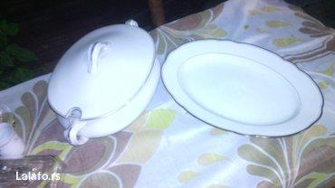 Činija i porcelanski posluzavnik, bez ostećenja  - Cuprija