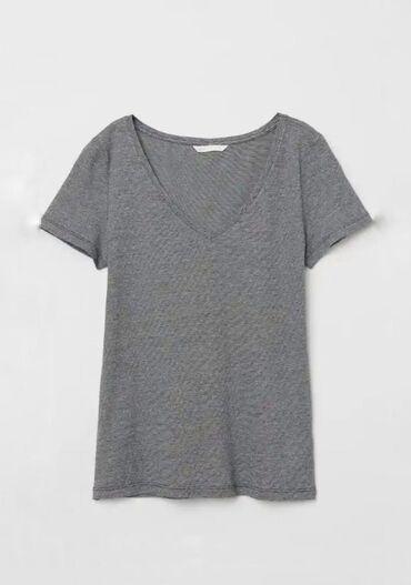Бренд h&mоблегающая футболка с коротким рукавом из хлопкового