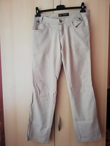 Exit zenski lanene pantalone u krem boji Ocuvane 29 broj - Lajkovac