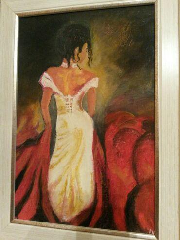Slike   Sopot: Ulje na platnu. Bogat nanos boje. 30x20. Autorka Iv. Tel