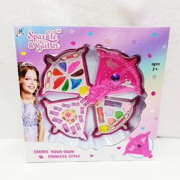 детские игрушки 3 в Кыргызстан: Детская косметика Sparkle and Glitter - прекрасный набор креативной